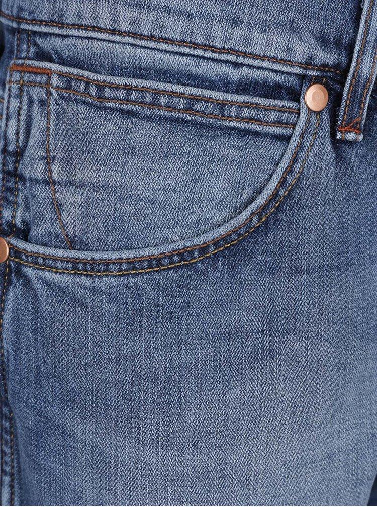 Světle modré pánské regular džíny s vyšisovaným efektem Wrangler Greensboro