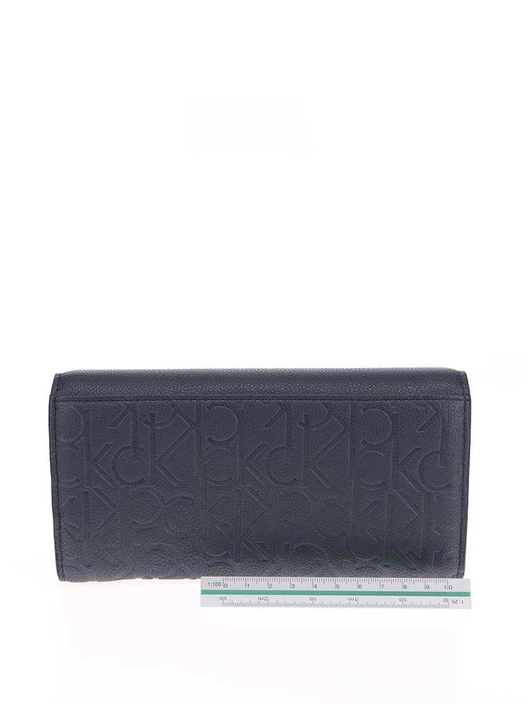 Modrá dámská vzorovaná peněženka Calvin Klein Jeans Misha