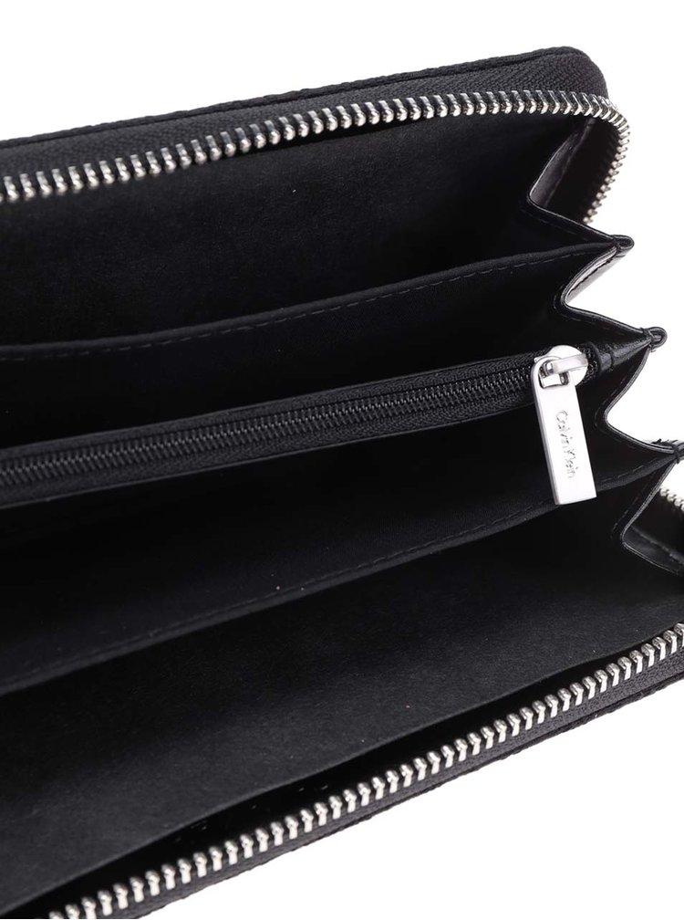 Černá dámská peněženka na zip Calvin Klein Jeans Marina