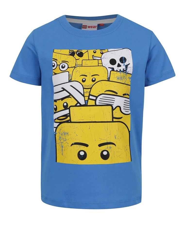 Modré klučičí triko s potiskem LEGO Wear Teo