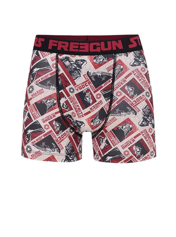 Boxeri negru & roșu Star Wars Freegun cu imprimeu
