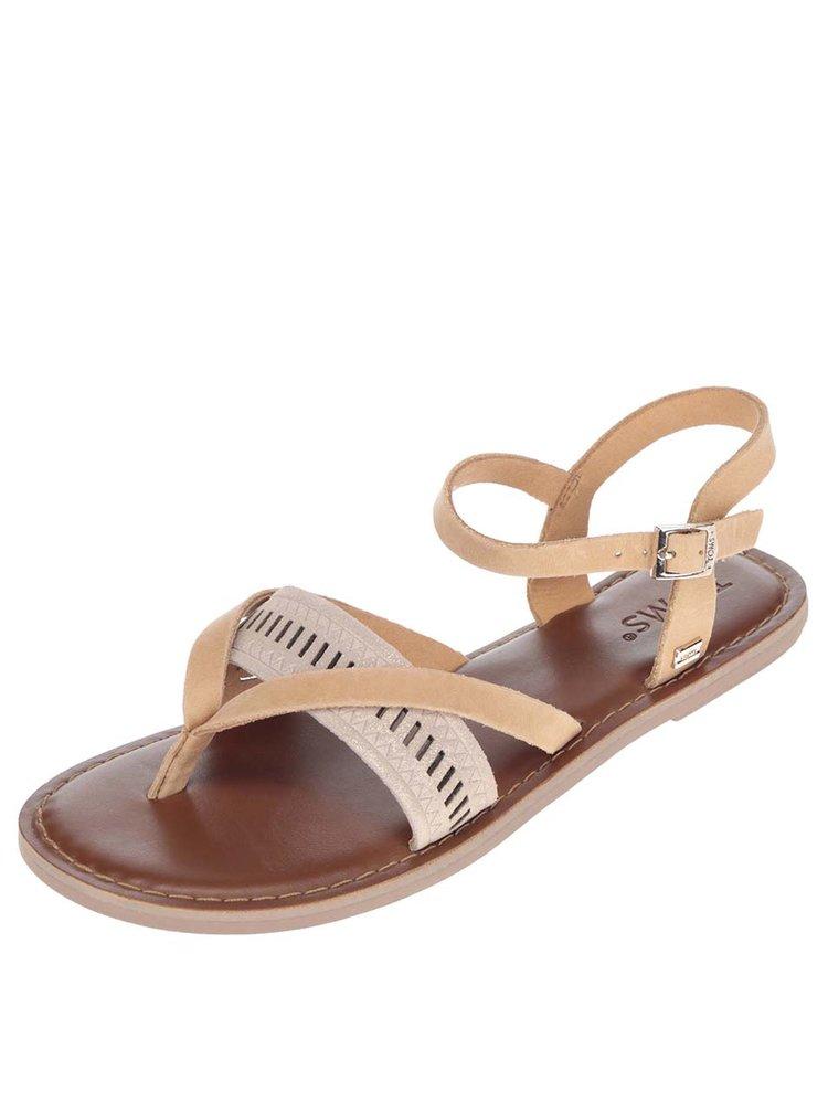 Sandale flip-flop maro TOMS