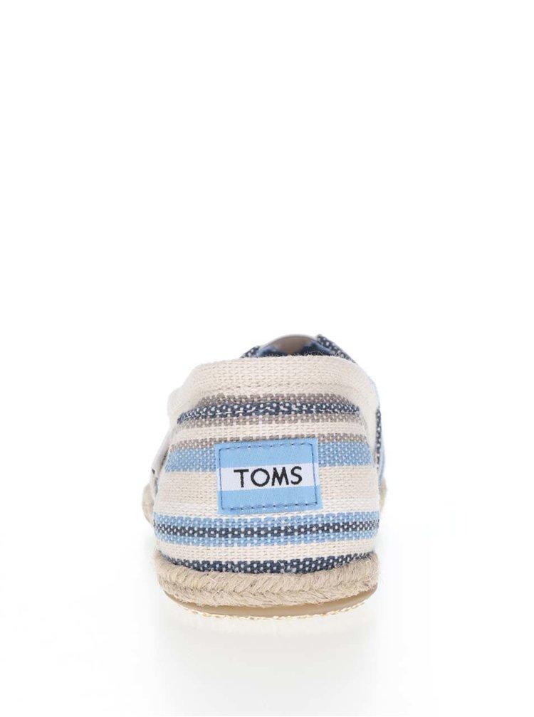 Modro-krémové dámské pruhované espadrilky TOMS