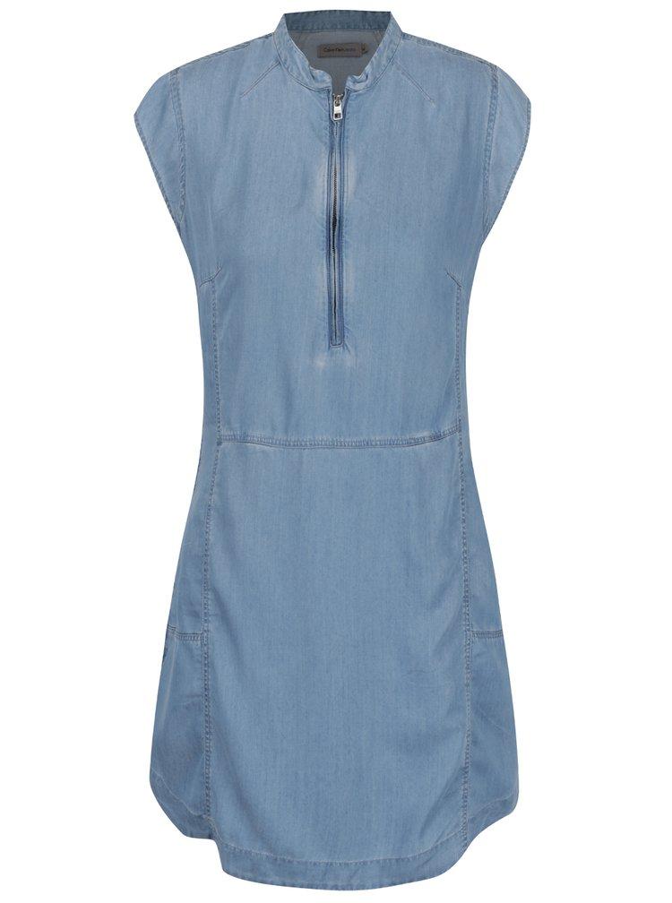Modré šaty s krátkým rukávem Calvin Klein Jeans Dana