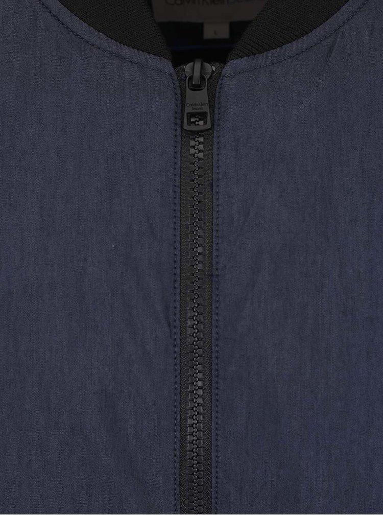 Tmavě modrý pánský bomber Calvin Klein Jeans Ondo 1