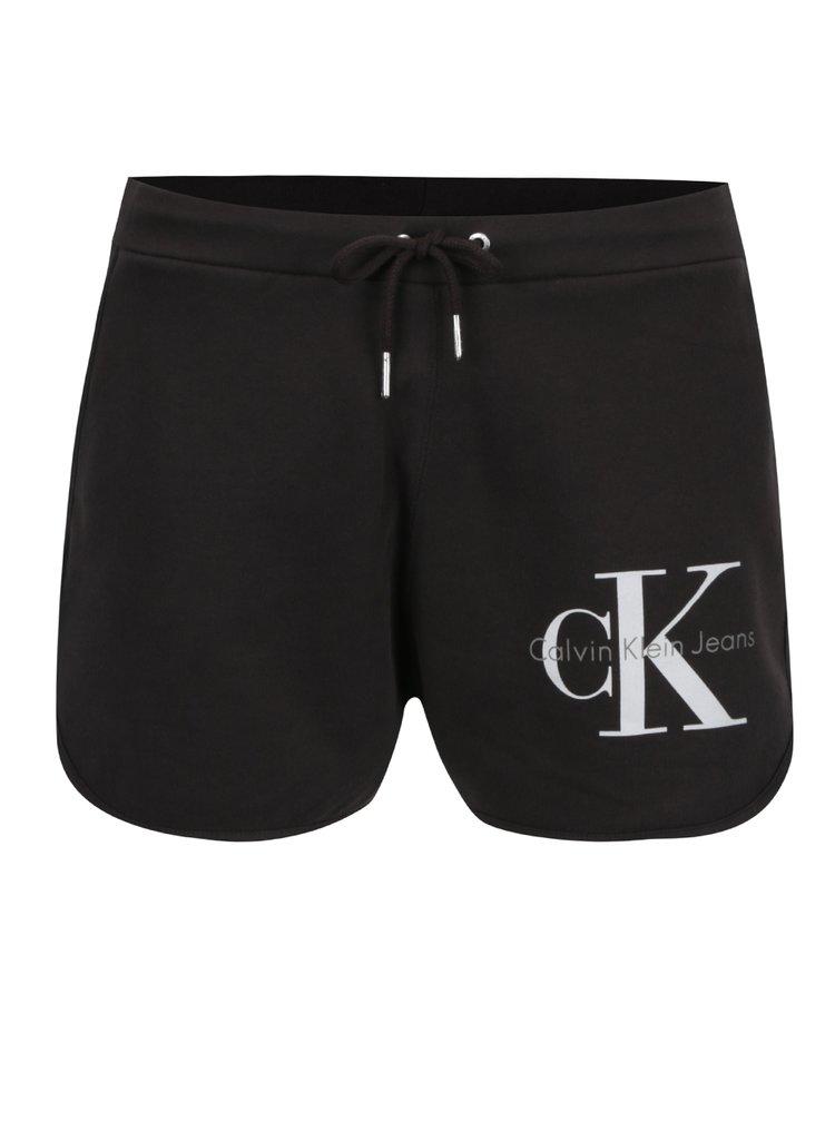 Šedé dámské kraťasy s potiskem Calvin Klein Jeans True