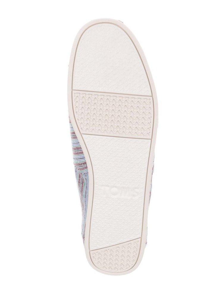 Hnědo-modré pánské pruhované loafers TOMS