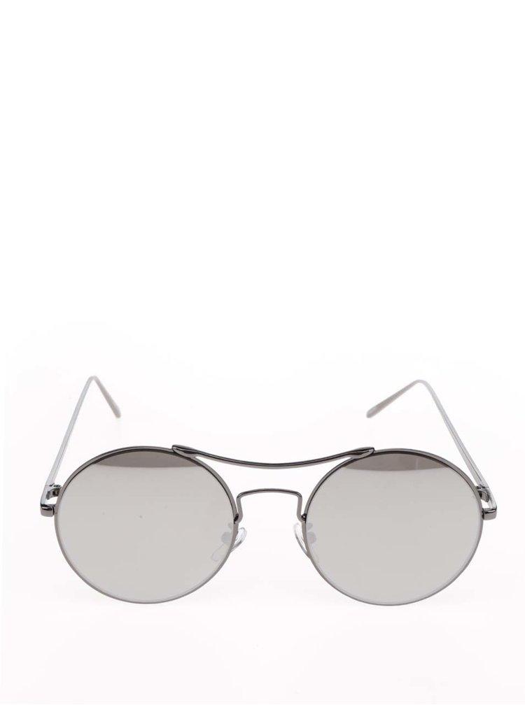 Šedé sluneční brýle Pieces Kaitlyn