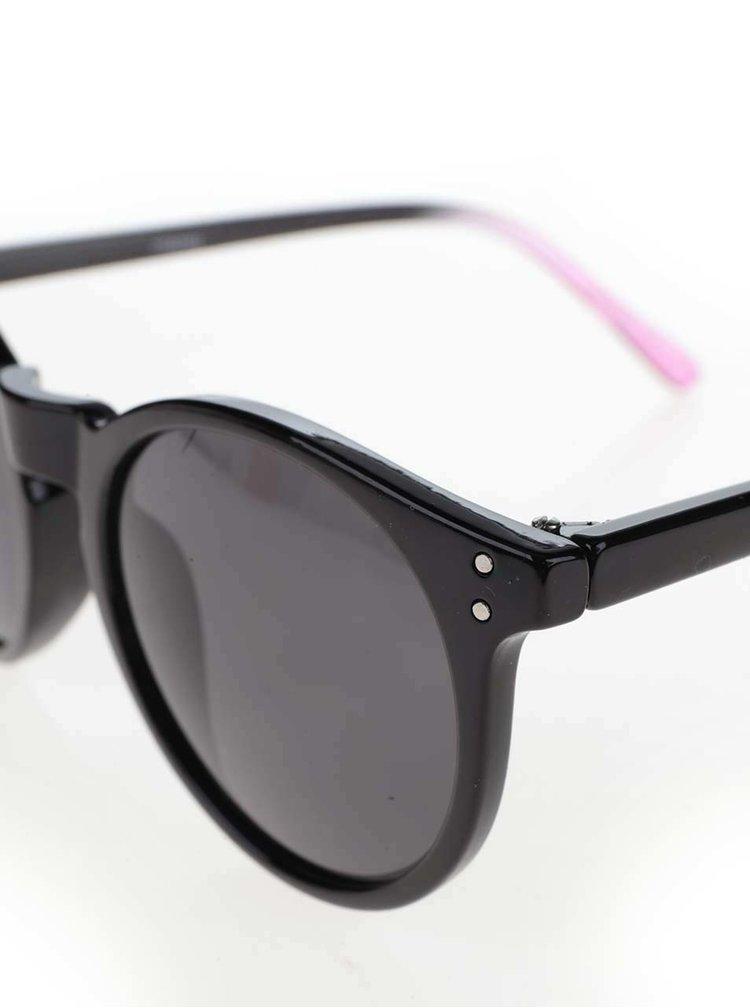 Růžovo-černé sluneční brýle Pieces Kacey