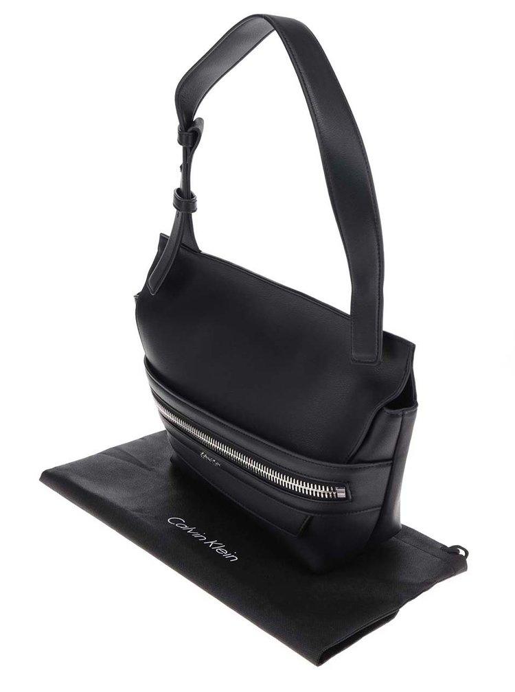Černá dámská kabelka s ozdobným zipem Calvin Klein Jeans Lucy