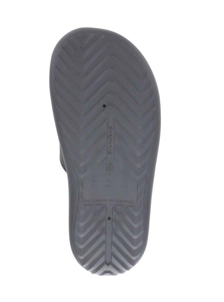 Tmavě šedé pánské pantofle Rider Dunas Evolut Slide