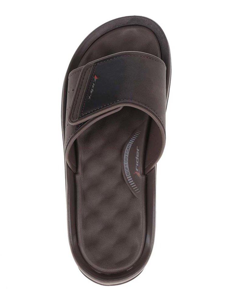 Papuci maro Rider Dunas Evolut Slide cu talpă comodă