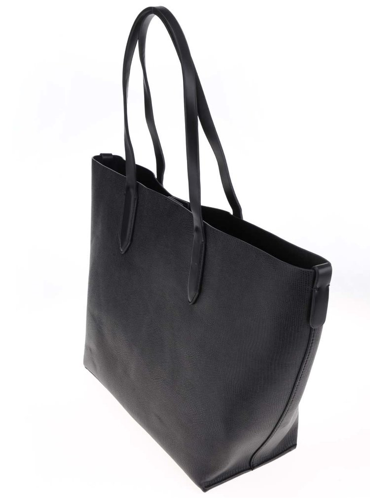 Černý shopper s pouzdrem 2v1 Pieces Sonia