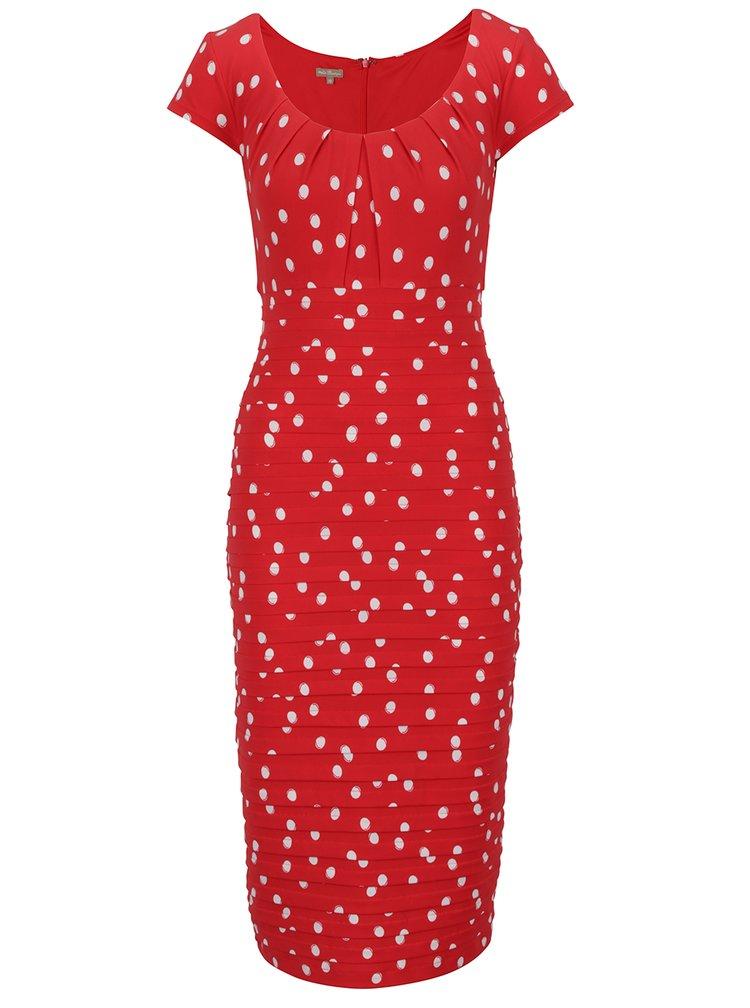 Rochie rosie M&Co cu model cu buline