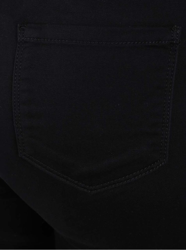 Černé zkrácené jeggins v semišové úpravě M&Co
