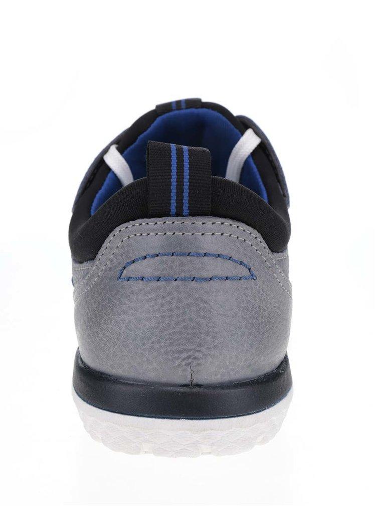 Pantofi sport gri s.Oliver cu logo