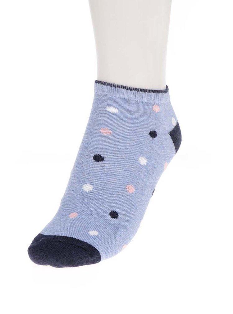 5322ec457f088 Súprava piatich párov dámskych vzorovaných ponožiek v modrej farbe M&Co