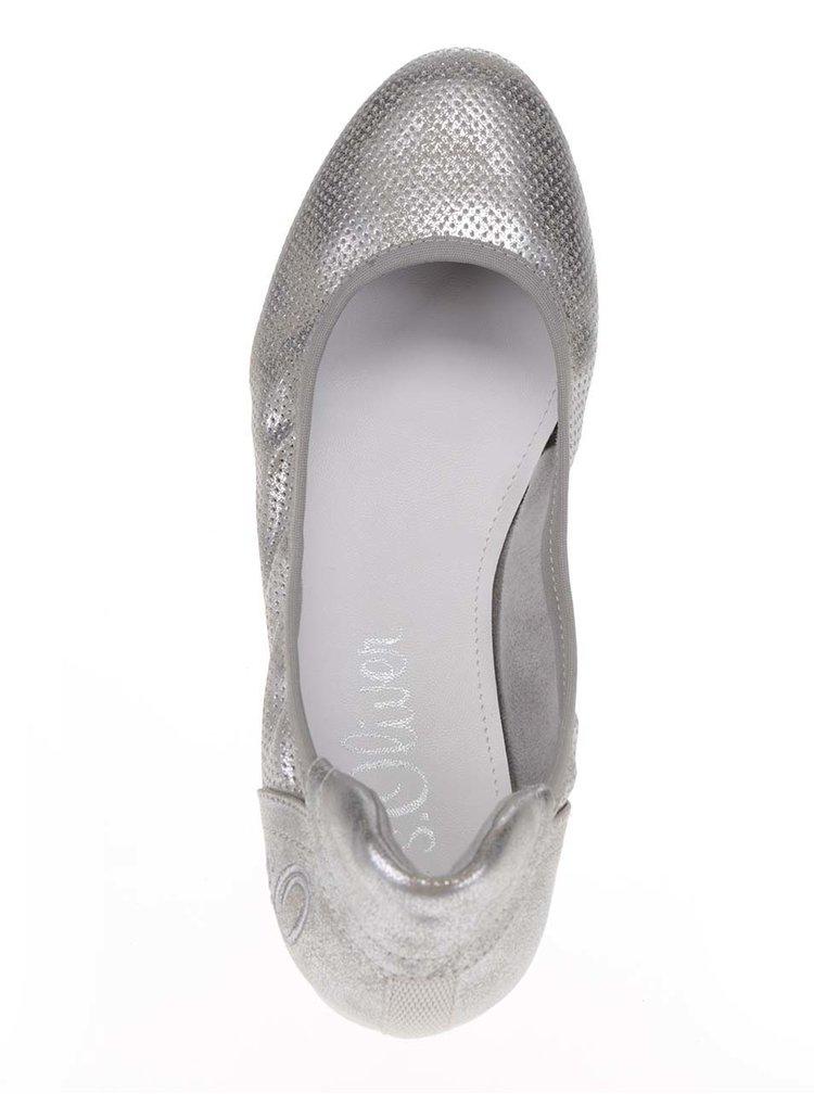 Balerini argintii s.Oliver cu model