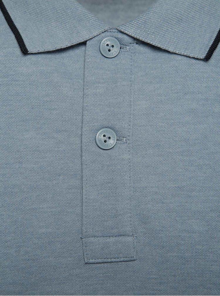 Tricou polo bleumarin Jack & Jones Stone cu slituri laterale