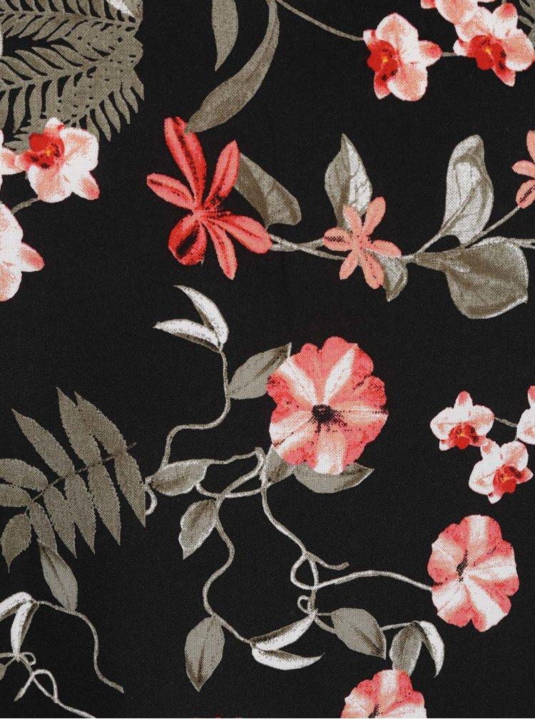 Top negru M&Co cu model floral