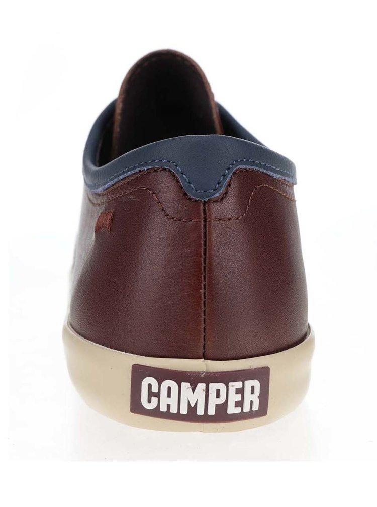 Hnědé pánské kožené tenisky Camper