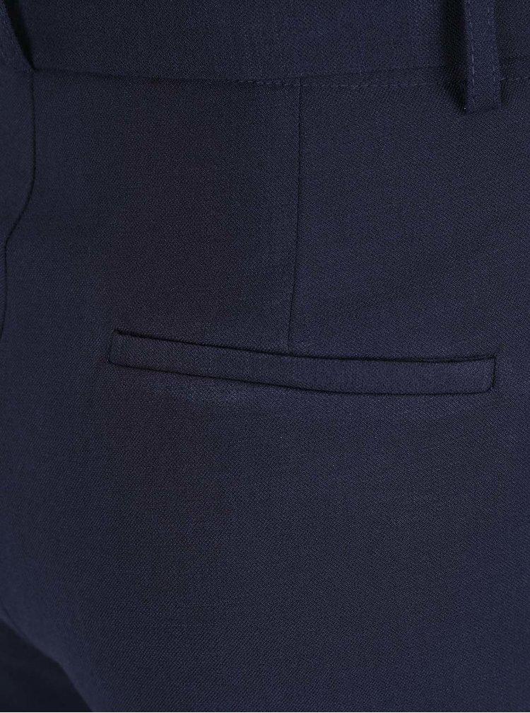 Tmavě modré kraťasy s vysokým pasem VILA Mela