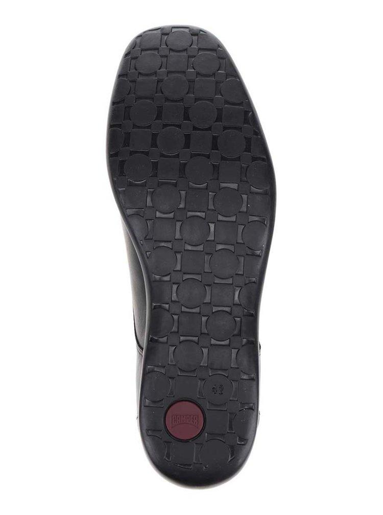 Čierne pánske kožené poltopánky Camper