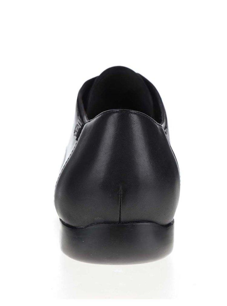 Černé pánské kožené polobotky Camper