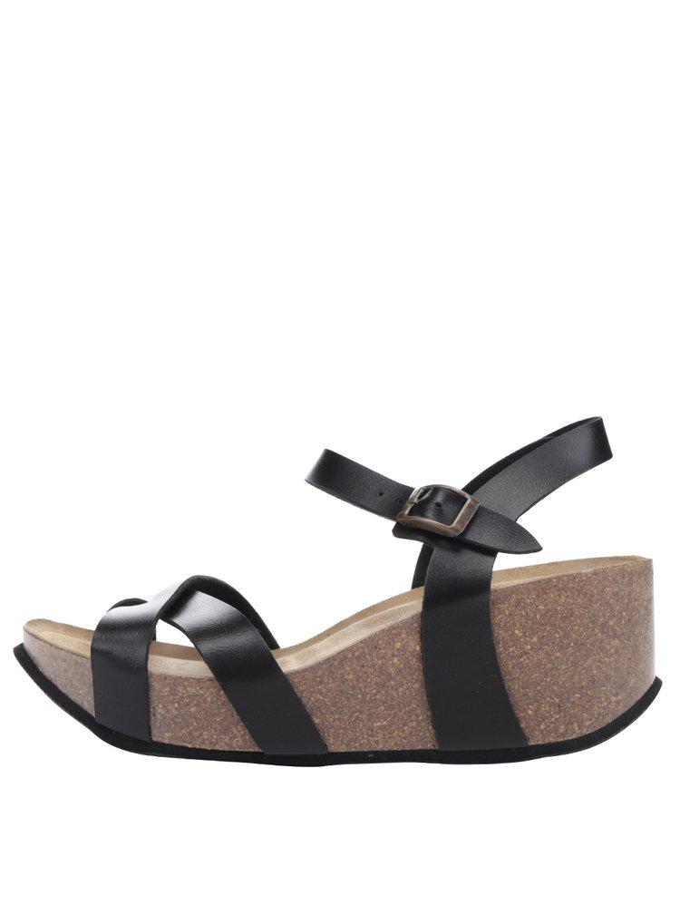 Černé dámské sandály na platformě OJJU