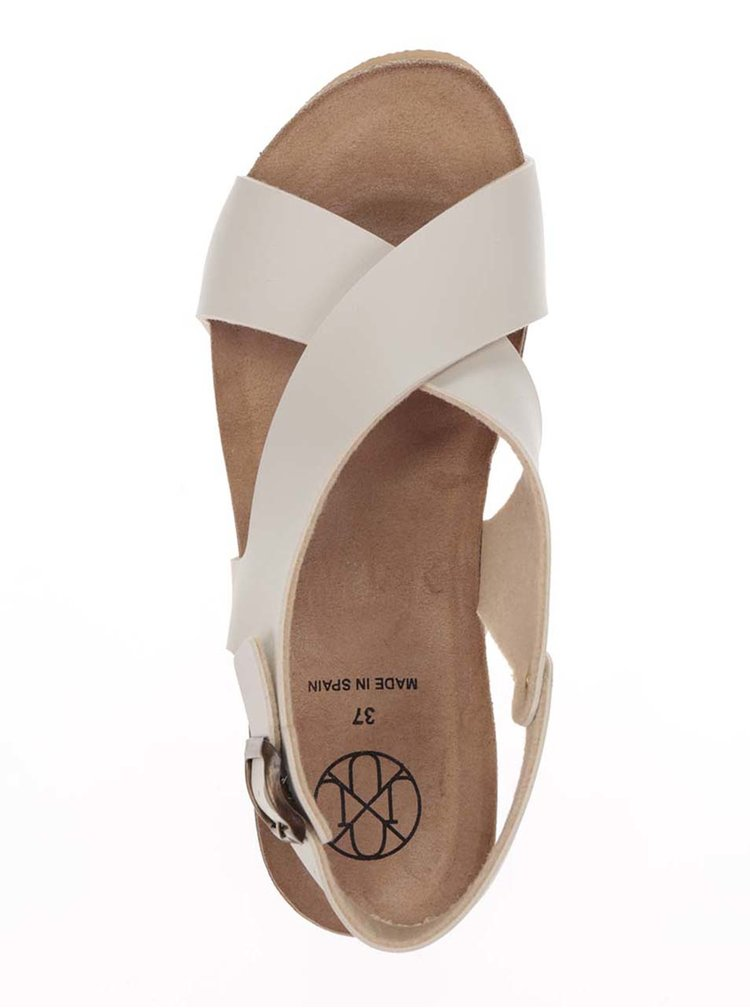 Sandale crem OJJU cu platforma