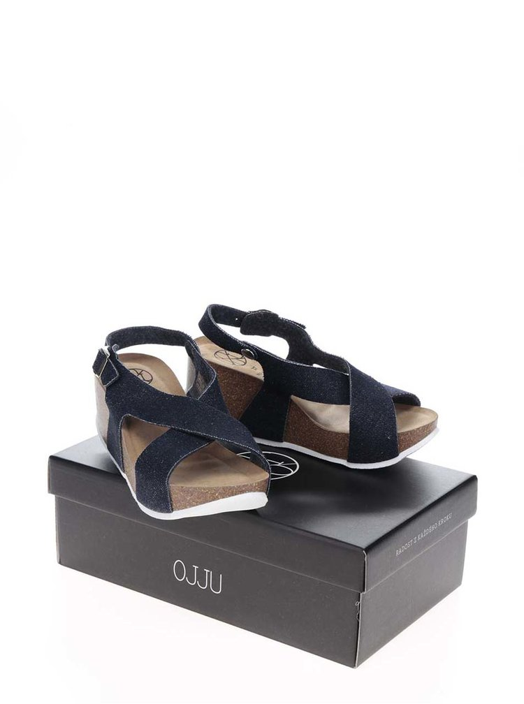 Sandale albastru închis OJJU cu platformă