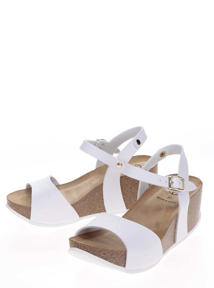 Sandale albe OJJU cu platforma