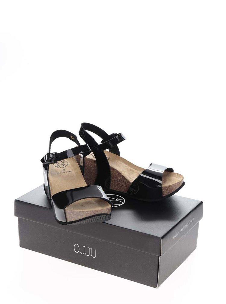 Sandale negre OJJU cu platforma