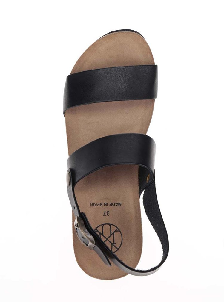 Černé dámské sandály s kovovým detailem OJJU