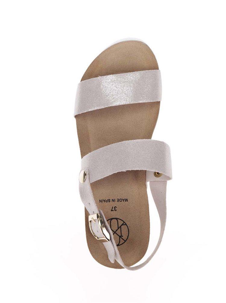 Sandale bej OJJU cu platformă
