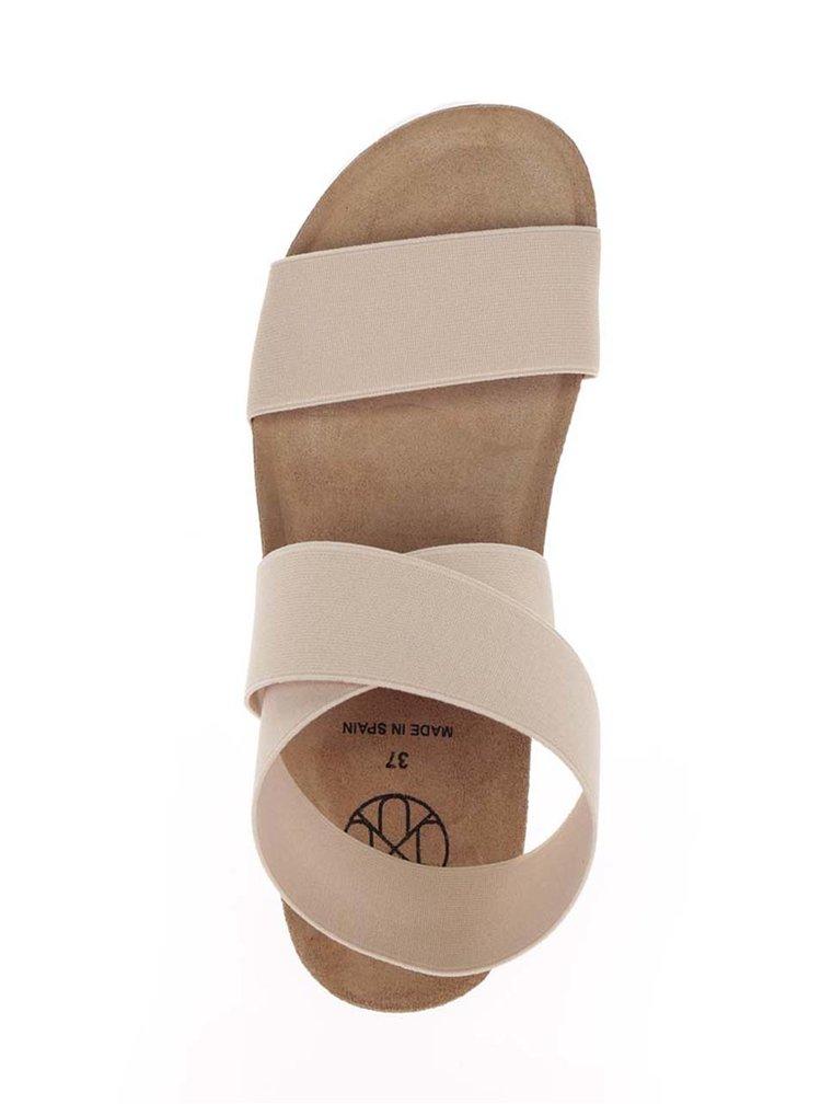 Sandale bej OJJU cu barete elastice