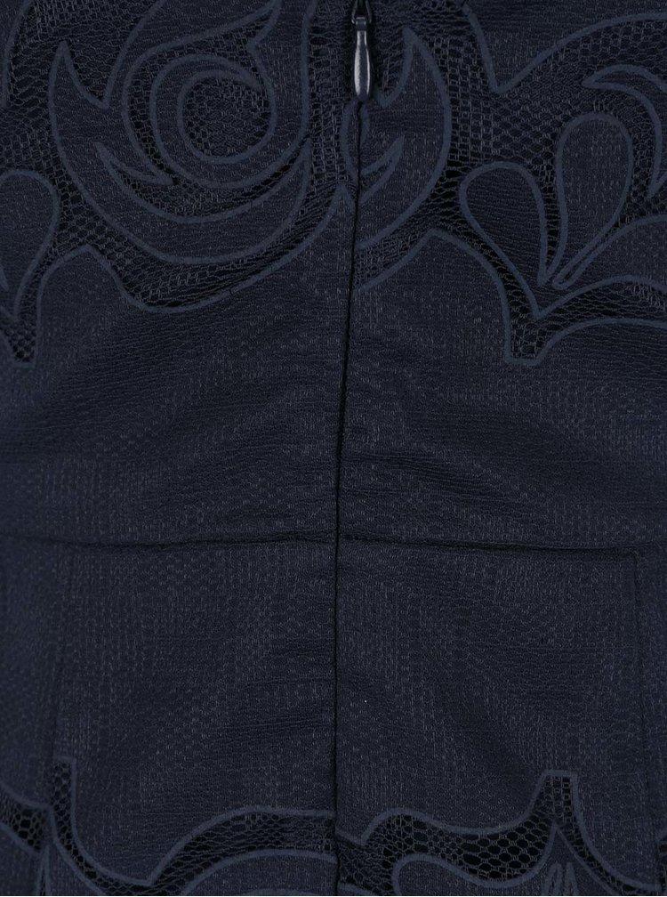 Tmavě modré krajkové šaty VILA Bellina