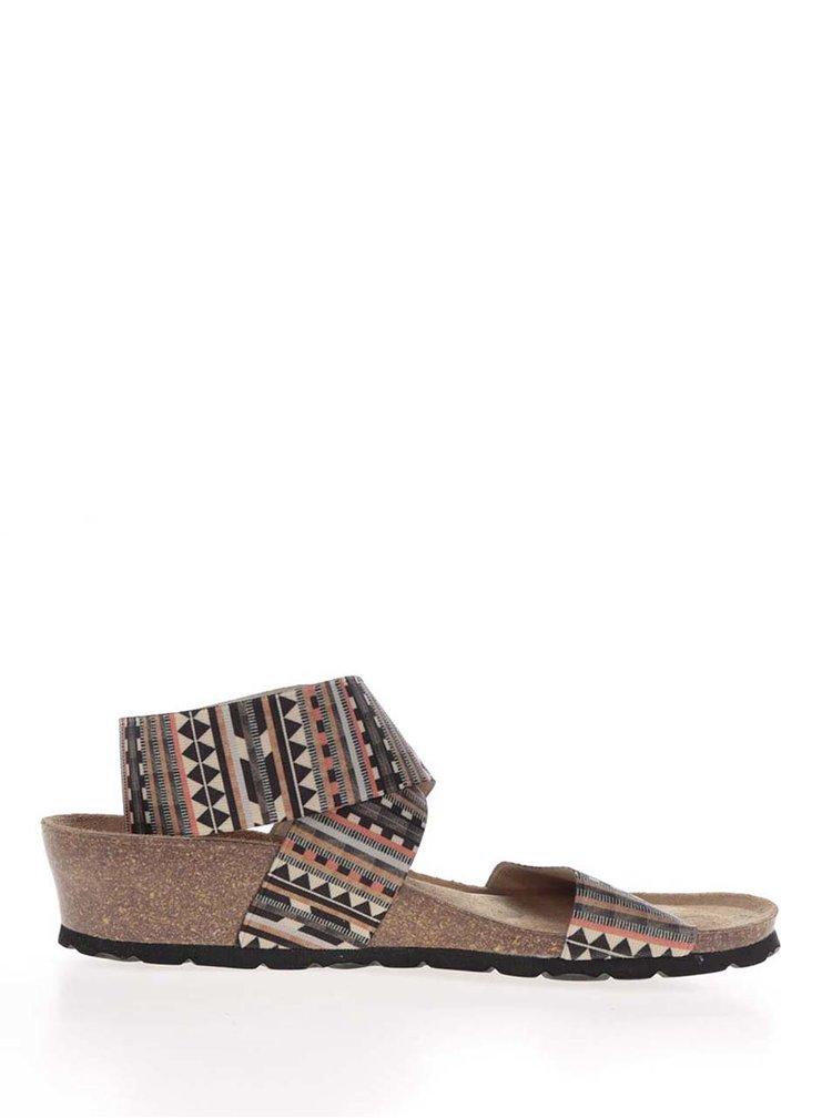 Krémovo-hnědé dámské sandály s pružnými pásky OJJU