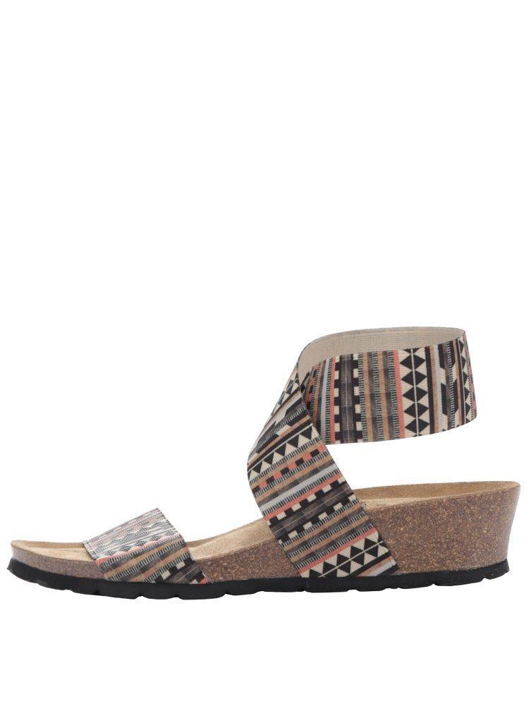 Sandale crem OJJU cu barete elastice