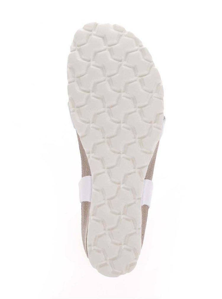 Sandale albe OJJU cu barete incrucisate