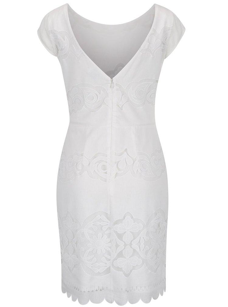 Krémové krajkové šaty VILA Bellina