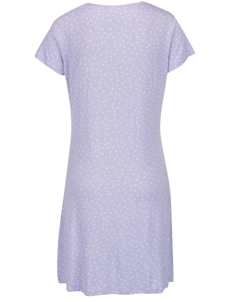 Camasa de noapte violet deschis M&Co cu model cu buline