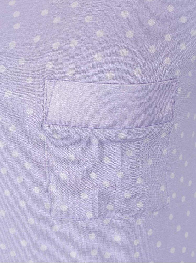Světle fialová puntíkovaná noční košilka M&Co