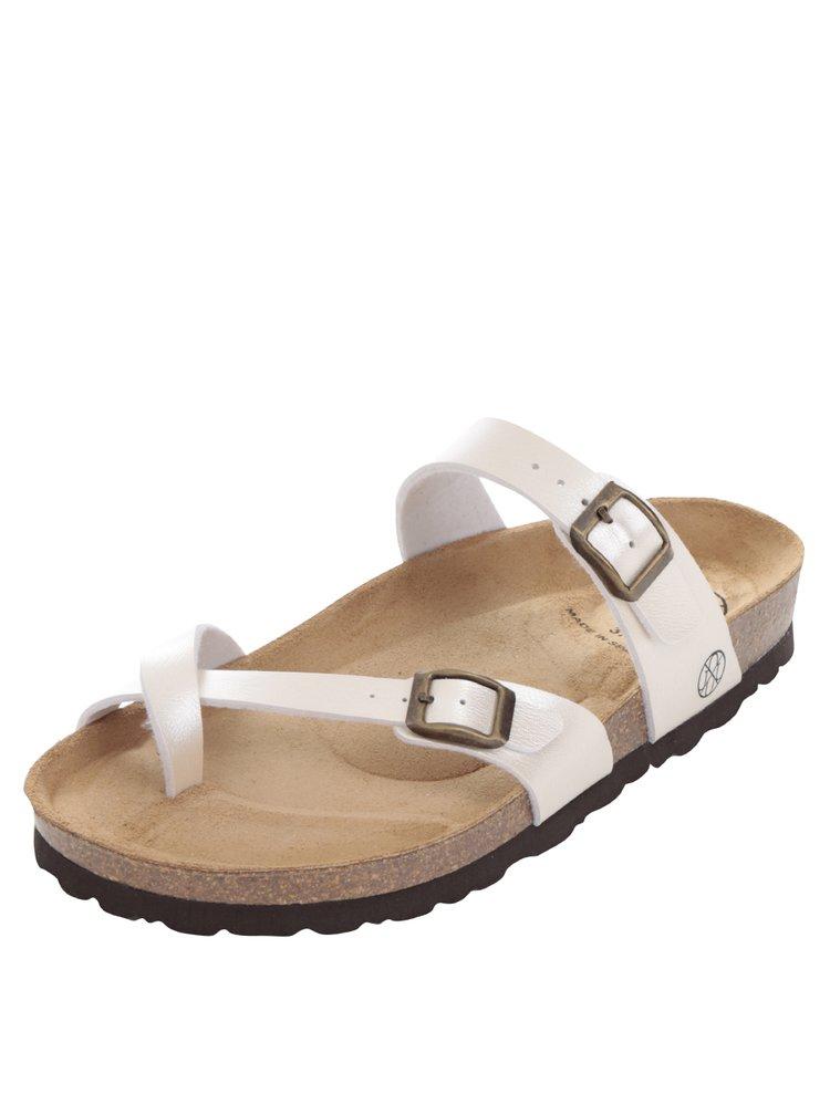 Krémové dámské sandály s přezkami OJJU