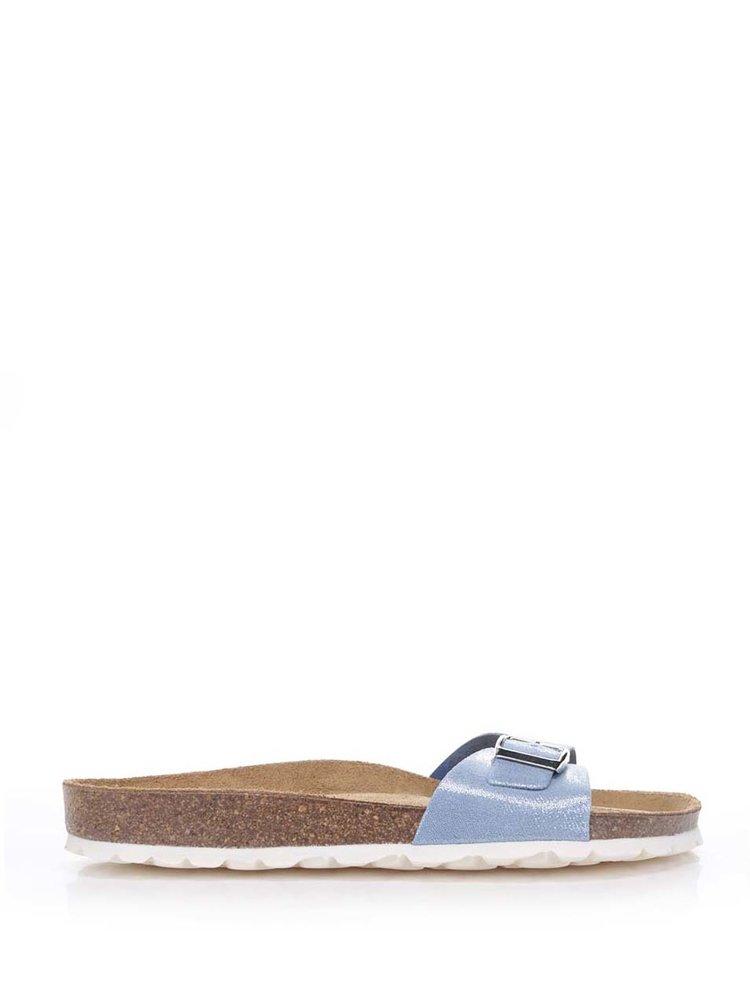 Světle modré dámské třpytivé pantofle OJJU
