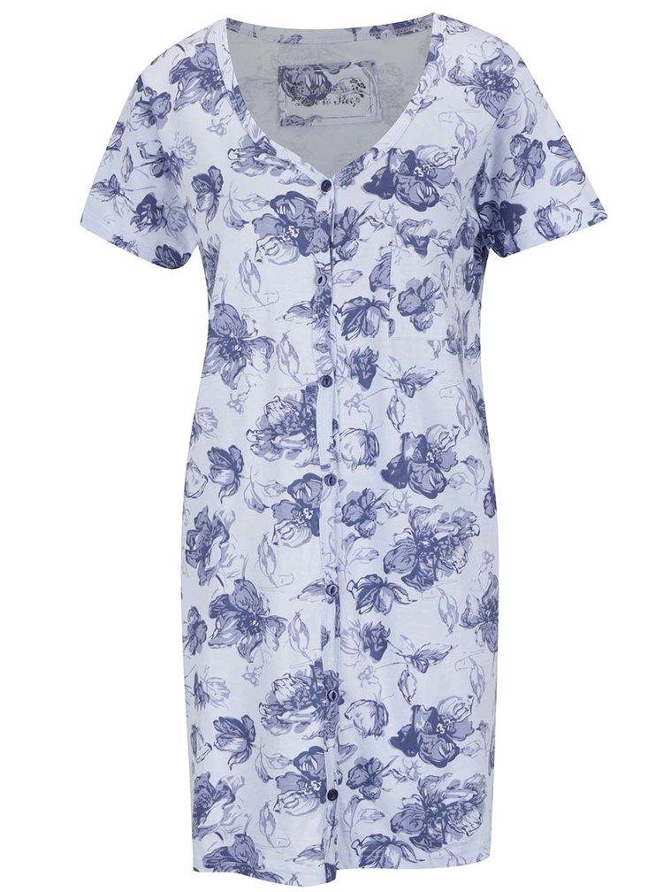 Modrá noční květovaná košile M&Co