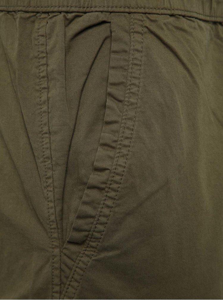 Khaki kalhoty s pružným pasem Jack & Jones Vega