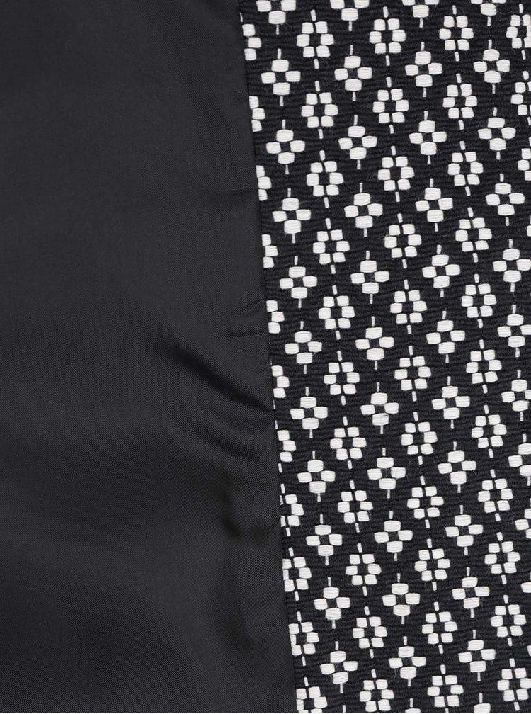 Krémovo-černý vzorovaný kabát M&Co