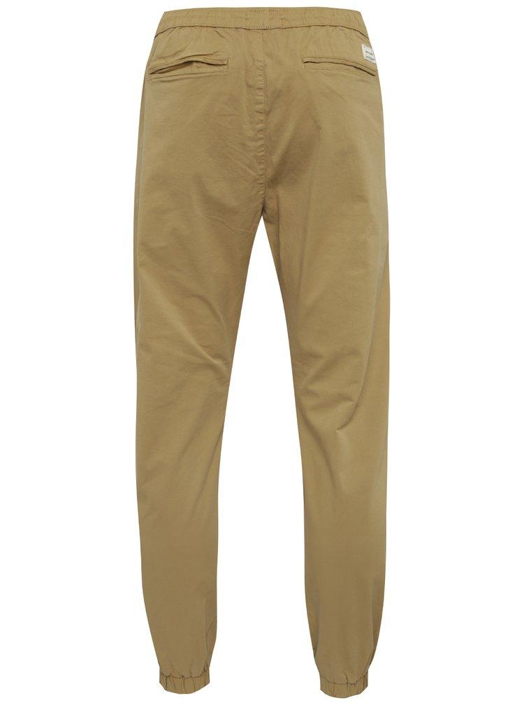 Pantaloni bej cu snur in talie Jack & Jones Vega