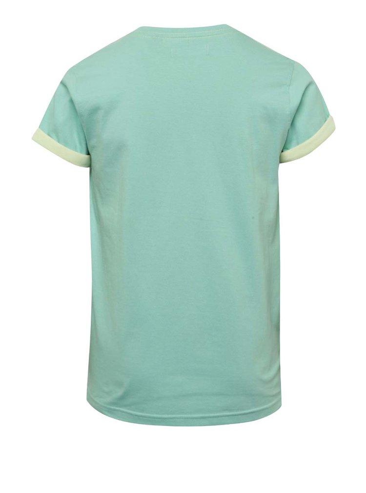 Světle zelené klučičí triko s potiskem Blue Seven